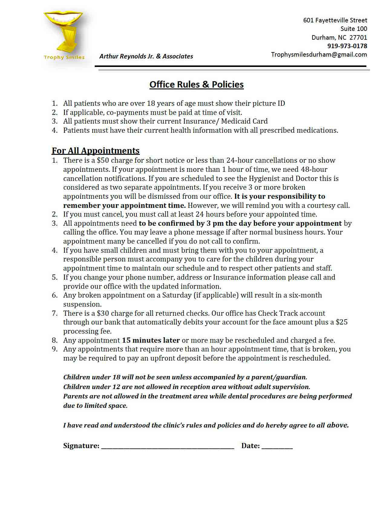 Office Rules & Policies